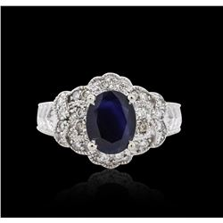 14KT White Gold 1.88 ctw Sapphire and Diamond Ring