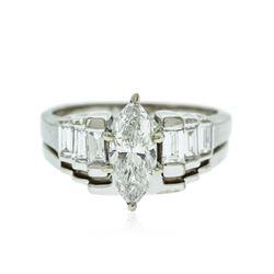 14KT White Gold EGL Certified 1.70 ctw Diamond Ring