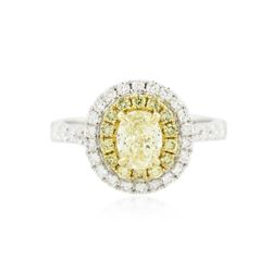 18KT Two-Tone Gold 1.32 ctw Diamond Engagement Ring