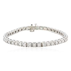 14KT White Gold 4.75 ctw Diamond Tennis Bracelet