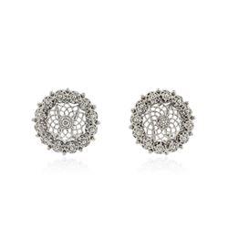 14KT White Gold 0.74 ctw Diamond Earrings