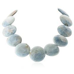 725.00 ctw Aquamarine Bead Necklace