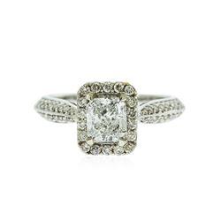 14KT White Gold EGL Certified 1.58 ctw Diamond Ring
