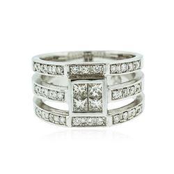 18KT White Gold 0.90 ctw Diamond Ring
