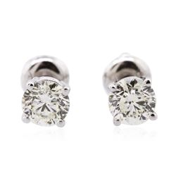 14KT White Gold 1.23 ctw Diamond Solitaire Earrings
