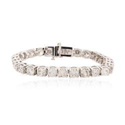 14KT White Gold 16.39 ctw Diamond Tennis Bracelet