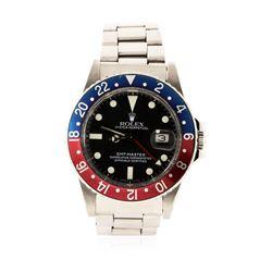 Gents Rolex Stainless Steel GMT-Master Date Wristwatch