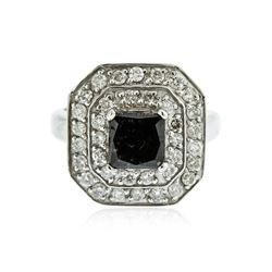 14KT White Gold 2.66 ctw Black Diamond Ring