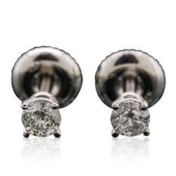 14KT White Gold 0.38 ctw Diamond Stud Earrings