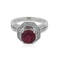 18KT White Gold 2.87 ctw Ruby and Diamond Ring