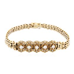 14KT Yellow Gold 1.12 ctw Diamond Bracelet