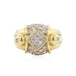 14KT Yellow Gold 0.63 ctw Diamond Ring