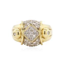 14KT Yellow Gold 0.63 ctw Diamond Ring