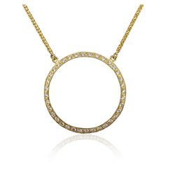 18KT Yellow Gold 1.00 ctw Diamond Pendant With Chain