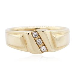 14KT Yellow Gold 0.10 ctw Diamond Ring