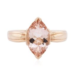 14KT Rose Gold 3.00 ctw Morganite Solitaire Ring