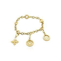 Bulgari 18KT Yellow Gold Charm Bracelet