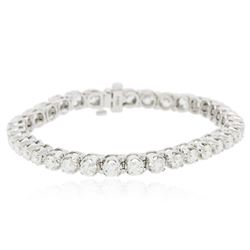 14KT White Gold 7.60 ctw Diamond Tennis  Bracelet