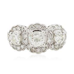 14KT White Gold 1.96 ctw Diamond Ring
