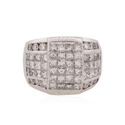 18KT White Gold 4.65 ctw Diamond Ring