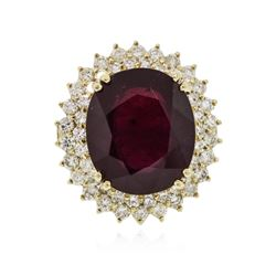 14KT Yellow Gold 17.96 ctw Ruby and Diamond Ring