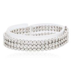14KT White Gold 6.54 ctw Diamond Bracelet