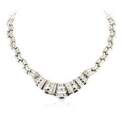 18KT White Gold 8.81 ctw Diamond Necklace