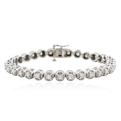 14KT White Gold 3.26 ctw Diamond Tennis Bracelet