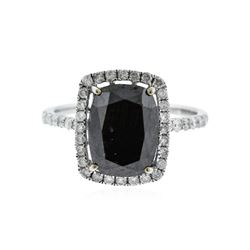 14KT White Gold 5.64 ctw Black Diamond Ring