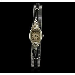 Ladies Vintage Bulova Diamond Wristwatch