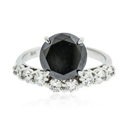 14KT White Gold 3.66 ctw Black Diamond Ring
