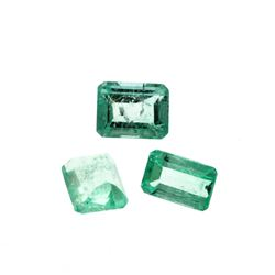 2.35 cts. Natural Emerald Cut Emerald Parcel