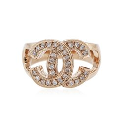 14KT Rose Gold 0.29 ctw Diamond Ring