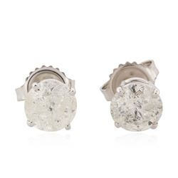 14KT White Gold 2.31 ctw Diamond Earrings
