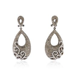 14KT Black Gold 3.82 ctw Diamond Earrings