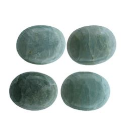 51.63 ctw Oval Cut Oval Cabochon Cut Natural Aquamarine Parcel