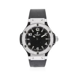Hublot Stainless Steel 1.00 ctw Diamond Big Bang Wristwatch