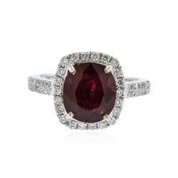 14KT White Gold 4.82 ctw Ruby and Diamond Ring