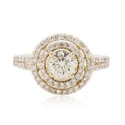 14KT Yellow Gold 1.37 ctw Diamond Ring