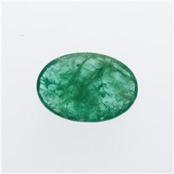 3.95 ct. One Oval Cut Natural Emerald