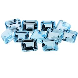 50.31 ctw Emerald Cut Natural Blue Topaz Parcel