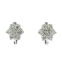 14KT White Gold 3.04 ctw Diamond Earrings