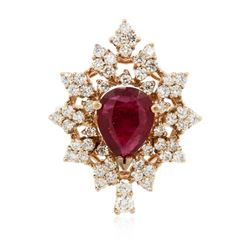 14KT Rose Gold 3.14 ctw Ruby and Diamond Ring