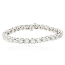 14KT White Gold 6.43 ctw Diamond Tennis  Bracelet