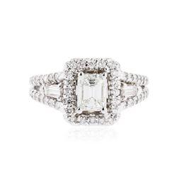 14KT White Gold EGL USA Certified 2.03 ctw Diamond Ring