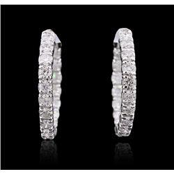 14KT White Gold 3.56 ctw Diamond Earrings