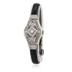 Ladies Vintage Baume & Mercier Diamond Case Cover Wristwatch