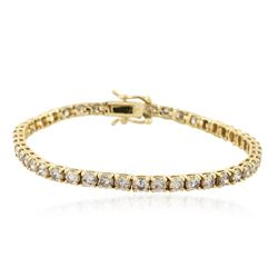 14KT Yellow Gold 5.01 ctw Diamond Tennis Bracelet