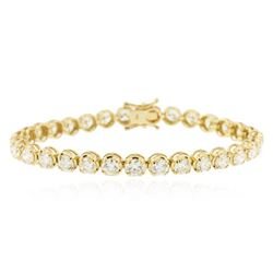 14KT Yellow Gold 10.04 ctw Diamond Tennis Bracelet