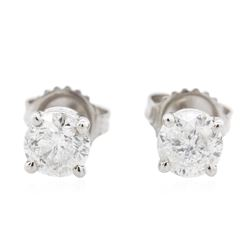 14KT White Gold 1.23 ctw Diamond Stud Earrings